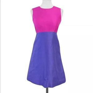 kate spade Pink & Purple Color Block Dress Sz 8